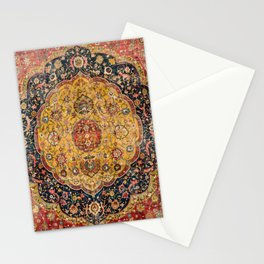 Indian Boho III // 16th Century Distressed Red Green Blue Flowery Colorful Ornate Rug Pattern Stationery Cards
