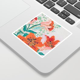 Orange Lily Sticker