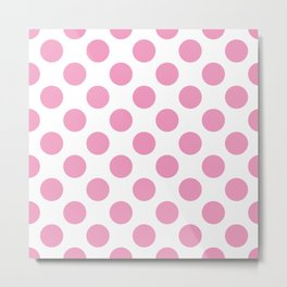 Light Pink Large Polka Dots Pattern Metal Print