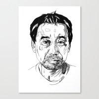 murakami Canvas Prints featuring Haruki Murakami by Giorgia Ruggeri
