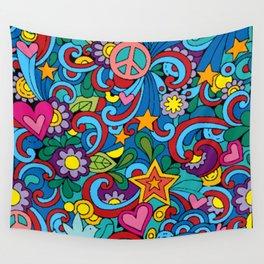 Hippie Trippy Wall Tapestry