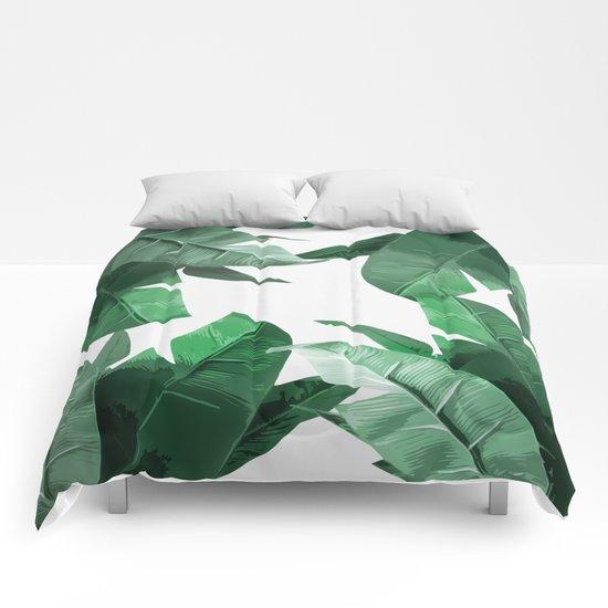 Tropical Palm Print Comforters