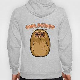 Owl Potato Funny Cute Fat Night Bird Potato Owl Hoody