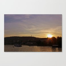 Vltava Sunset Canvas Print
