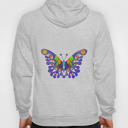 Elenissina - colourful butterfly Hoody