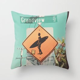 Grandview Street, Leucadia, Encinitas, California Throw Pillow