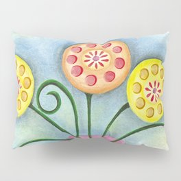 Lollipop Flowers Pillow Sham