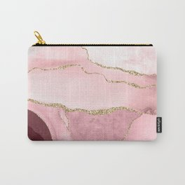 Blush Marble Art Landscape Carry-All Pouch