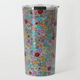 Playful Watercolor dots pattern - silver Travel Mug