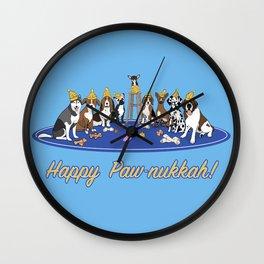 Happy Paw-nukkah! - Happy Hanukkah Wall Clock