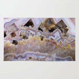 Pink agate lavender druse crystal quartz gem gemstone geode mineral stone marble photograph hipster Rug