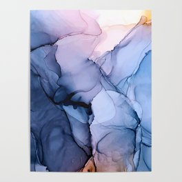 Captivating 1 - Alcohol Ink Painting Poster