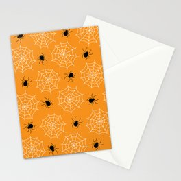 Halloween Spider Web Seamless Pattern Stationery Cards