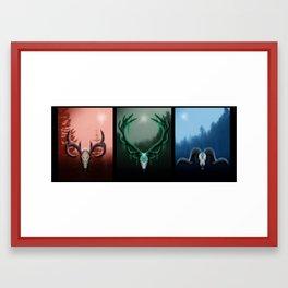 W Horns Framed Art Print