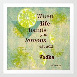 Add Vodka Art Print