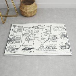 Vintage Map of Ohio (1912) Rug