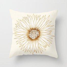 Gold Sunflower Throw Pillow