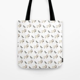 George the Frenchie and a NYC Pigeon Tote Bag