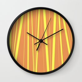 Orange And Yellow Stripes - Abstract Sunshine Wall Clock