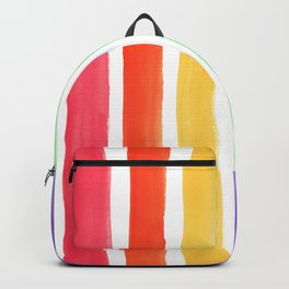Watercolor Rainbow Backpack