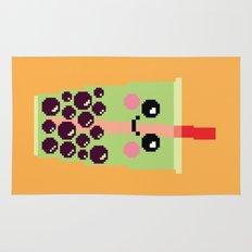 Happy Pixel Bubble Tea Rug