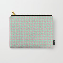 Light Green Pink Houndstooth Pattern Carry-All Pouch