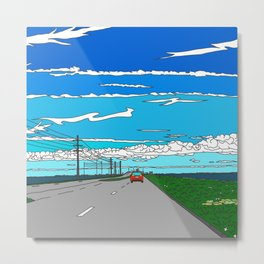 Road to Cape Canaveral Metal Print