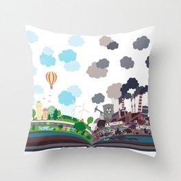 EcoBook Throw Pillow