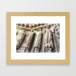 Smile of Reims Framed Art Print