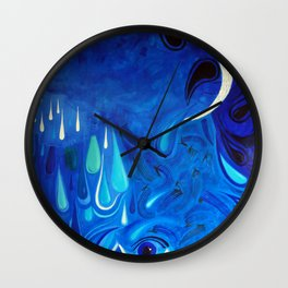 Tears of the moon Wall Clock