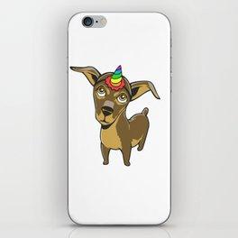 Chiweeniecorn Chiweenie Dog Unicorn iPhone Skin