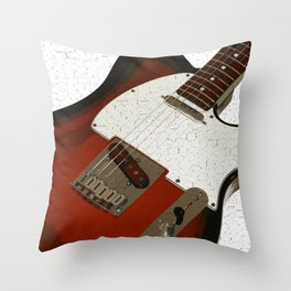 Electric Guitar Throw Pillow