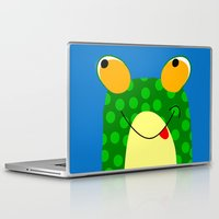 frog Laptop & iPad Skins featuring Frog by Jessica Slater Design & Illustration