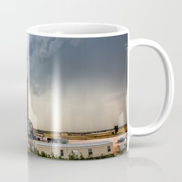 Nevermind the Weather - Oil Rig and Passing Storm in Oklahoma Coffee Mug
