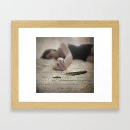 Automatic Writing Framed Art Print