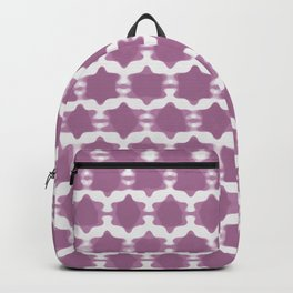 Hexagram Pattern: Purple Backpack