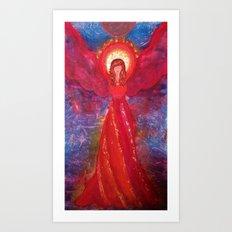 Serenity the Angel of Freedom Art Print