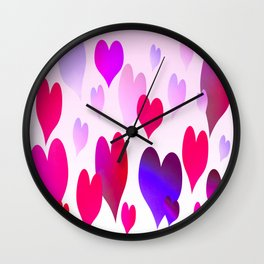 Hearts get Lighter (pink) Wall Clock