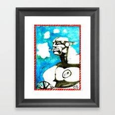SMOKER TWO (from Gotham City) Framed Art Print