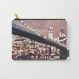 New York City Brooklyn Bridge Lights Carry-All Pouch
