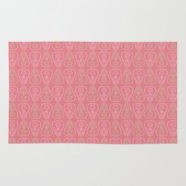 Pink & Green Matryoshka Doll Pattern Rug