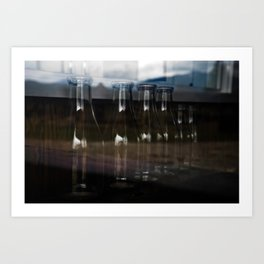Milk Bottles Art Print