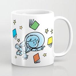 little astronaut and books Coffee Mug
