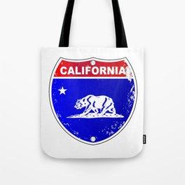 California Interstate Sign Tote Bag