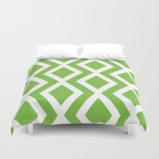 Green Diamond Duvet Cover