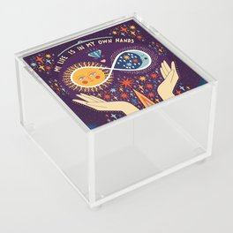 My life is in my own hands Acrylic Box