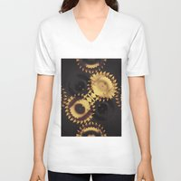 urban V-neck T-shirts featuring urban by Patrick Cazer