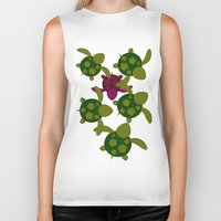 turtles Biker Tanks featuring Turtles  by MillennialBrake