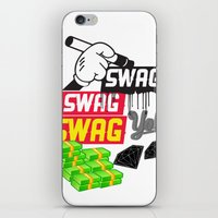 swag iPhone & iPod Skins featuring SWAG by Mr. Magenta
