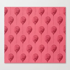 Balloons Watercolor Pattern Canvas Print